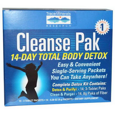 Trace Minerals Research, Cleanse Pak, 14-Day Total Body Detox, 28 Packets