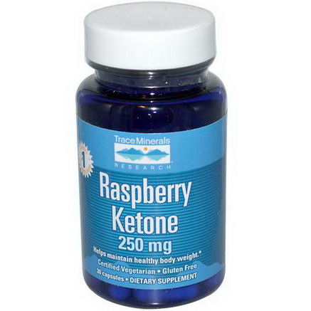 Trace Minerals Research, Raspberry Ketone, 250mg, 30 Capsules