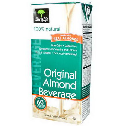 Tree of Life, Almond Beverage, Original, 32 fl oz (946 ml)