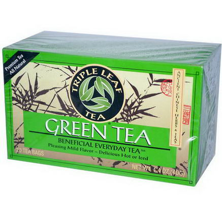 Triple Leaf Tea, Green Tea, 20 Tea Bags, 1.4oz (40g)