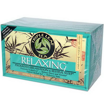 Triple Leaf Tea, Relaxing, 20 Tea Bags, 1.4oz (40g)