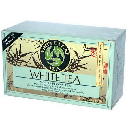 Triple Leaf Tea, White Tea, 20 Tea Bags, 1.4oz (40g)