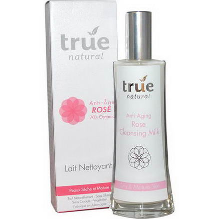 True Natural, Cleansing Milk, Anti-Aging Rose, 3.4 fl oz (100 ml)