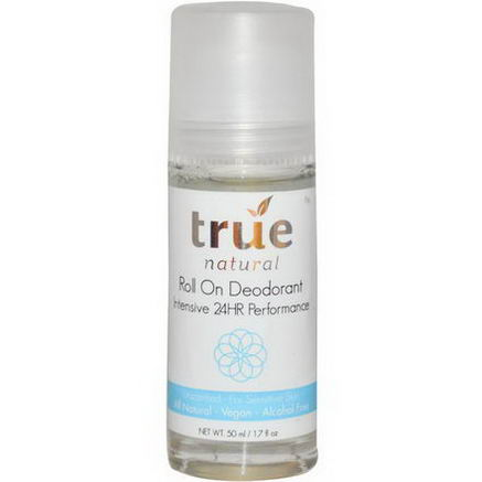 True Natural, Roll On Deodorant, Unscented, 1.7 fl oz (50 ml)