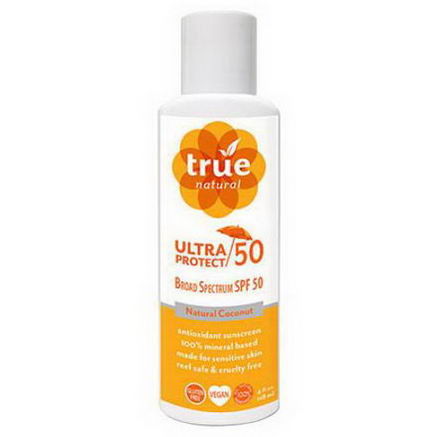 True Natural, Ultra Protect 50, Natural Coconut, 4 fl oz (118 ml)