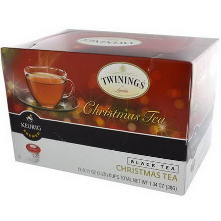 Twinings, Christmas Tea, Black Tea, Keurig Brewed, 12 Cups, 0.11oz (3.2g) Each