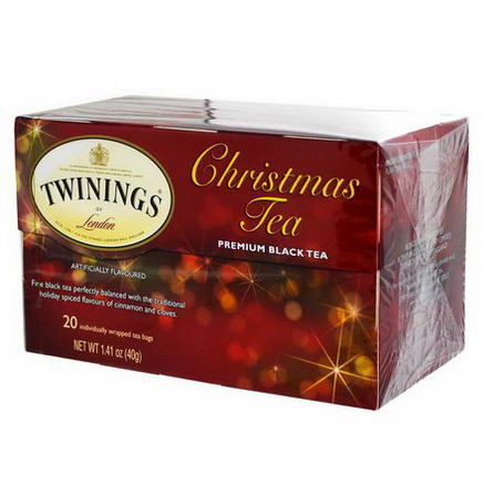 Twinings, Christmas Tea, Premium Black Tea, 20 Tea Bags, 1.41oz (40g)