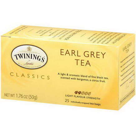 Twinings, Classics, Earl Grey Tea, 25 Tea Bags, 1.76oz (50g)