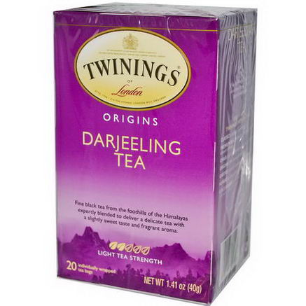 Twinings, Origins, Darjeeling Tea, 20 Tea Bags, 1.41oz (40g)