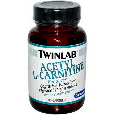 Twinlab, Acetyl-L-Carnitine, 30 Capsules