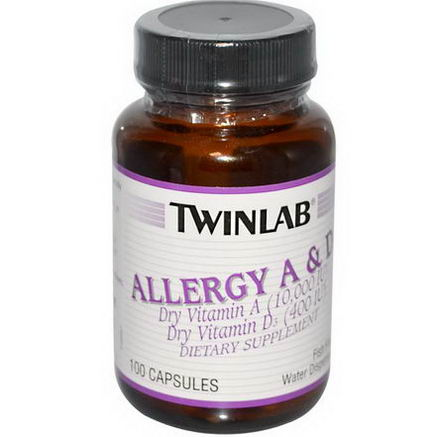 Twinlab, Allergy A & D3, 100 Capsules