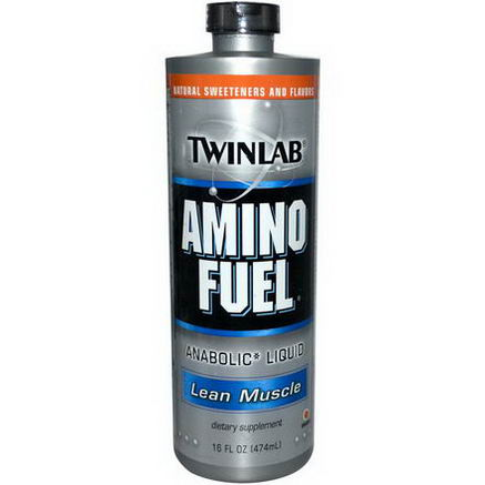 Twinlab, Amino Fuel Anabolic Liquid, Lean Muscle, Orange, 16 fl oz (474 ml)