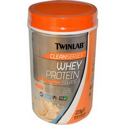 Twinlab, Clean Series, Whey Protein Isolate, Vanilla Wave, 1.5 lbs (680g)