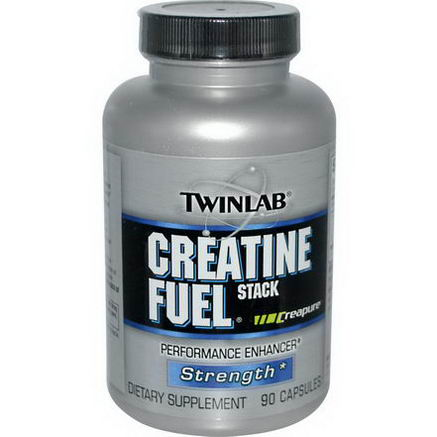 Twinlab, Creatine Fuel Stack, Performance Enhancer, 90 Capsules