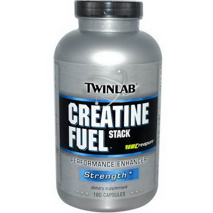 Twinlab, Creatine Fuel Stack, Performance Enhancer, Strength, 180 Capsules