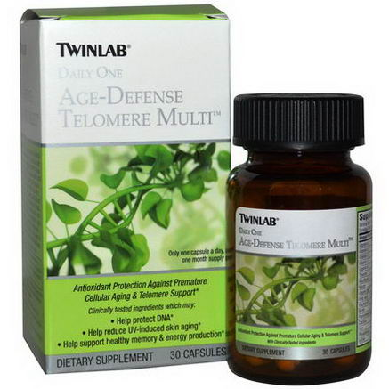 Twinlab, Daily One Age-Defense Telomere Multi, 30 Capsules