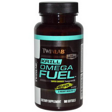 Twinlab, Krill Omega Fuel, 625mg, 50 Softgels