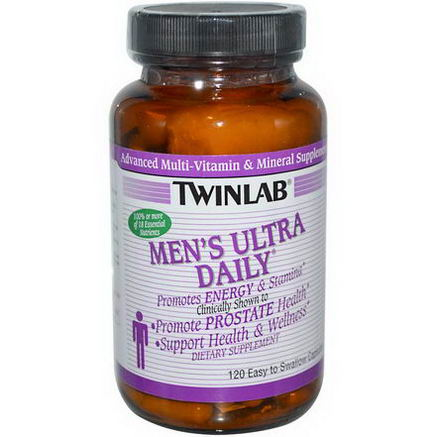 Twinlab, Men's Ultra Daily, 120 Easy to Swallow Capsules