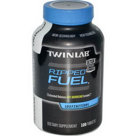 Twinlab, Ripped Fuel, Extended Release Fat Burning Formula, 120 Tablets