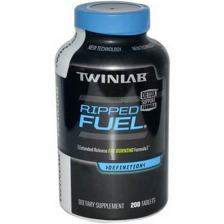 Twinlab, Ripped Fuel, Extended Release Fat Burning Formula, 200 Tablets