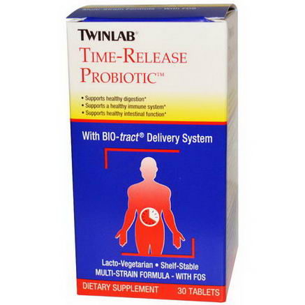 Twinlab, Time-Release Probiotic, 30 Tablets