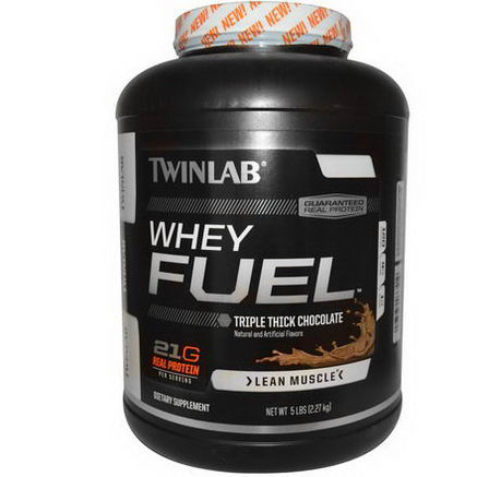 Twinlab, Whey Fuel, Triple Thick Chocolate, 5 lbs (2.27 kg)