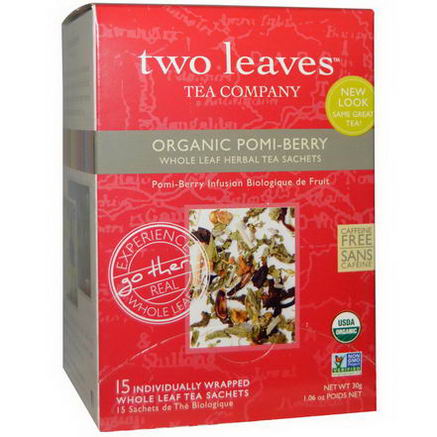 Two Leaves and a Bud, Organic Pomi-Berry, Whole Leaf Tea Sachets, 15 -1.06oz (30g) Each