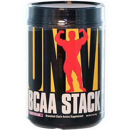 Universal Nutrition, BCAA Stack, Branched Chain Amino Supplement, Grape Splash, 2.2 lb (1 kg)