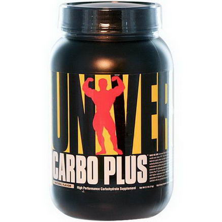 Universal Nutrition, Carbo Plus, High Performance Carbohydrate Supplement, Natural Flavor, 2.2 lb (1 kg)