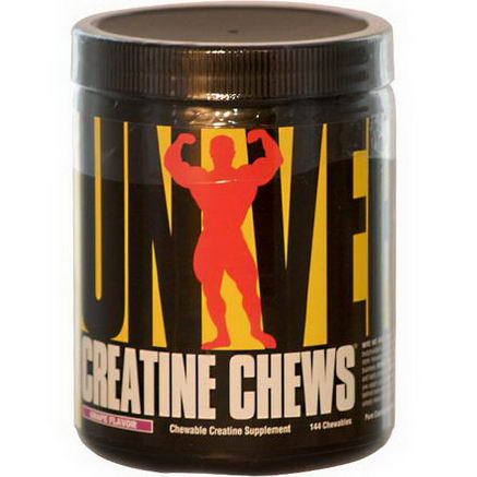 Universal Nutrition, Creatine Chews, Chewable Creatine Supplement, Grape Flavor, 144 Chewables