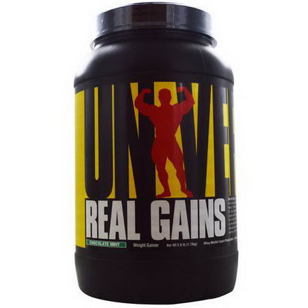 Universal Nutrition, Real Gains, Chocolate Mint, 3.8 lb (1.73 kg)