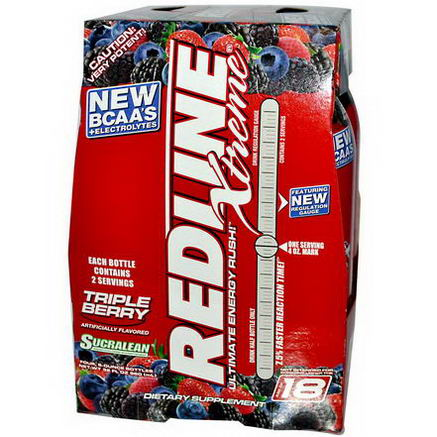 VPX Sports, Redline Xtreme, Ultimate Energy Rush, Triple Berry, 4 Pack, 8 fl oz (240 ml) Each