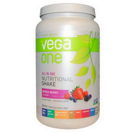 Vega, Vega One, All-in-One Nutritional Shake, Mixed Berry, 30oz (850g)