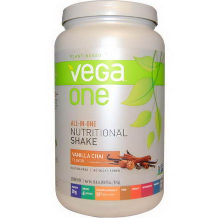 Vega, Vega One, All-in-One Nutritional Shake, Vanilla Chai, 30.8oz (874g)