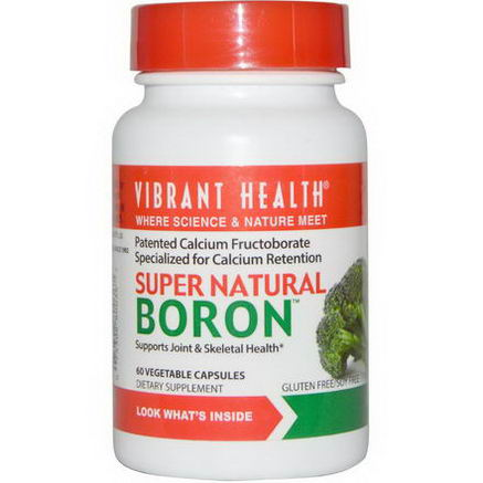 Vibrant Health, Super Natural Boron, 60 Veggie Caps
