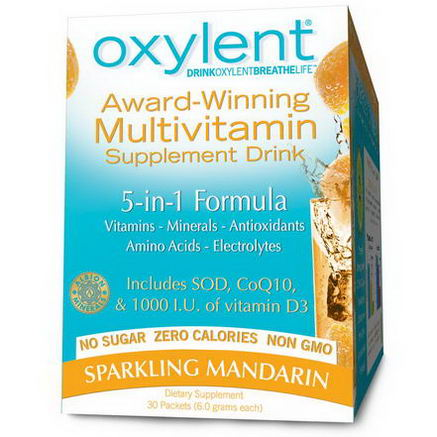 Vitalah, Oxylent, Multivitamin Supplement Drink, Sparkling Mandarin, 30 Packets, (5.9g) Each