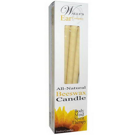 Wally's Natural Products, All-Natural Beeswax Candle, 12 Candles