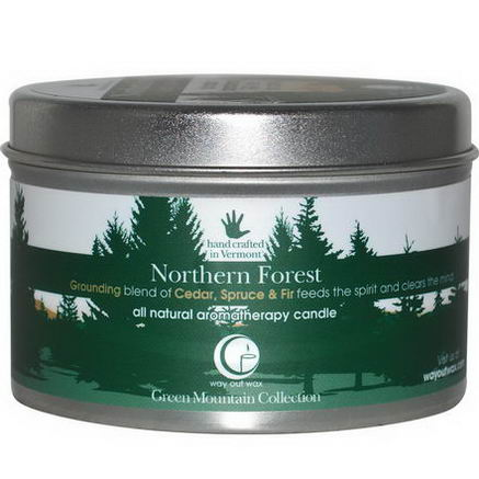 Way Out Wax, All Natural Aromatherapy Candle, Northern Forest, 6.7oz (190g)