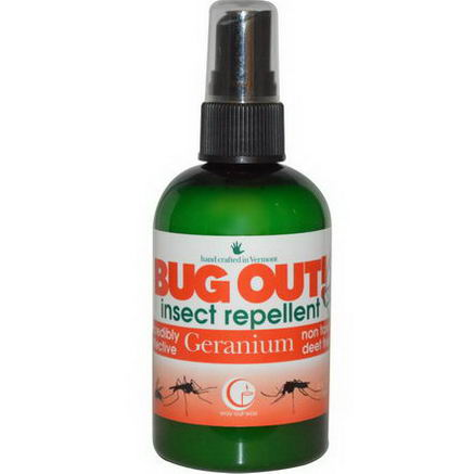 Way Out Wax, Bug Out! Insect Repellent, Geranium, 4 fl oz (118 ml)
