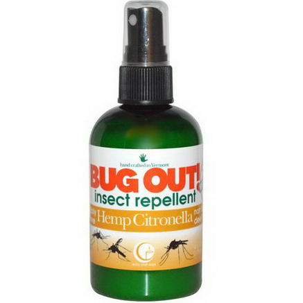 Way Out Wax, Bug Out! Insect Repellent, Hemp Citronella, 4 fl oz (118 ml)