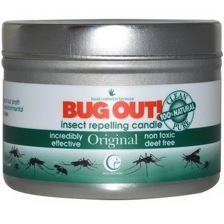Way Out Wax, Bug Out! Insect Repelling Candle, Original, 3oz (85g)