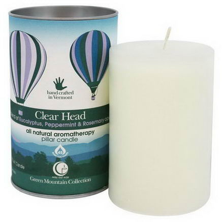 Way Out Wax, Green Mountain Collection, Clear Head, Pillar Candle, One 2.75