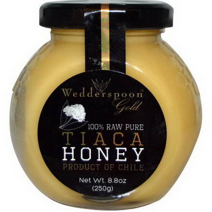 Wedderspoon Organic, Inc. 100% Raw Pure Tiaca Honey, 8.8oz (250g)