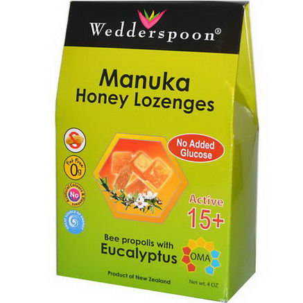Wedderspoon Organic, Inc. Manuka Honey Lozenges, Bee Propolis with Eucalyptus, 4oz