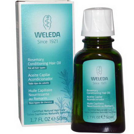 Weleda, Rosemary Conditioning Hair Oil, 1.7 fl oz (50 ml)