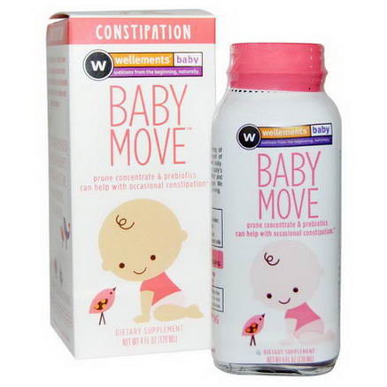 Wellements, Baby Move, Constipation, 4 fl oz (120 ml)