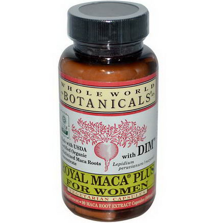 Whole World Botanicals, Royal Maca Plus For Women, 500mg, 90 Veggie Caps
