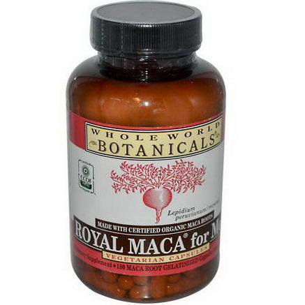 Whole World Botanicals, Royal Maca for Men, Gelatinized, 500mg, 180 Veggie Caps