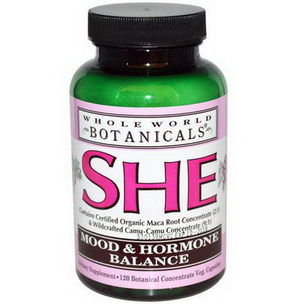 Whole World Botanicals, She, Mood & Hormone Balance, 120 Veggie Caps