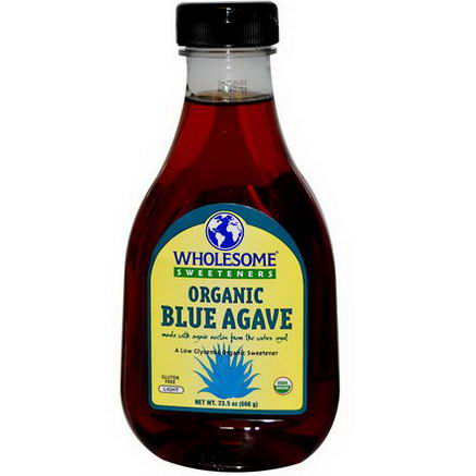 Wholesome Sweeteners, Inc. Organic Blue Agave, Light, 23.5oz (666g)